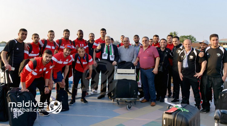 Palestine arrive in Maldives for AFC Asian Cup Qualifier