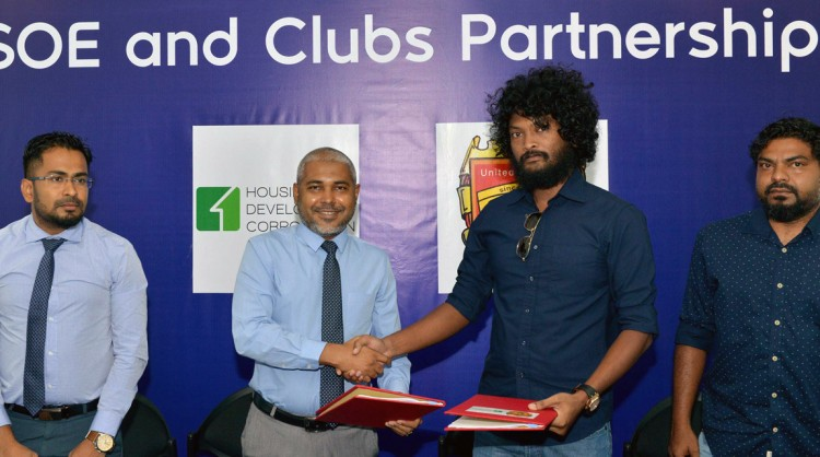 Three clubs signs with their sponsors