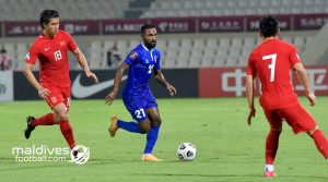 A comfortable win for China against the Maldives